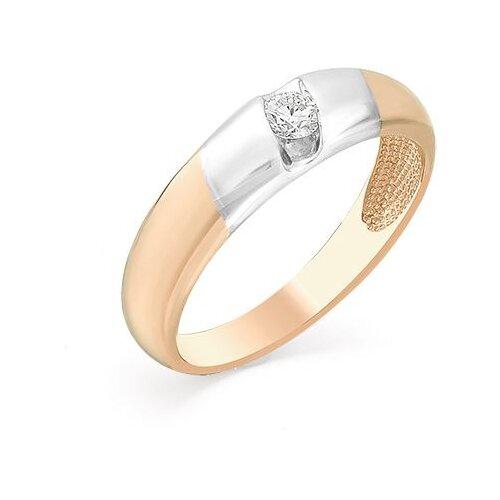 Мастер Бриллиант Кольцо с 1 бриллиантом из красного золота 1-104-103, размер 19 фото