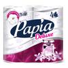 Туалетная бумага Papia Deluxe Dolce vita белая четырёхслойная