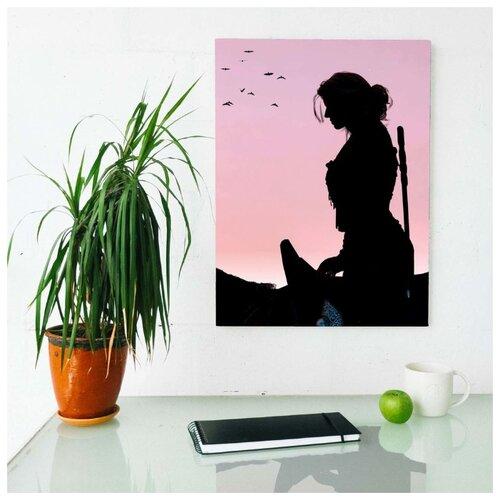 Картина Witcher - Цири на лошади 50х70 см. синтетический холст