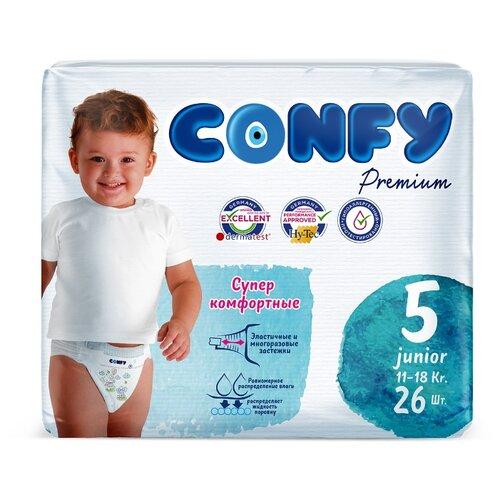 CONFY подгузники Premium 5 (11-18 кг) 26 шт., Подгузники  - купить со скидкой
