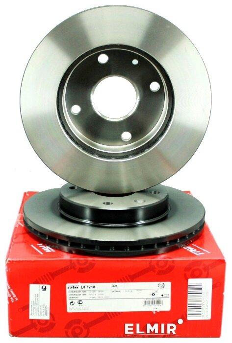 Тормозной диск передний TRW DF7218 256x24 для Chevrolet Lacetti, Daewoo Nubira, Daewoo Orion