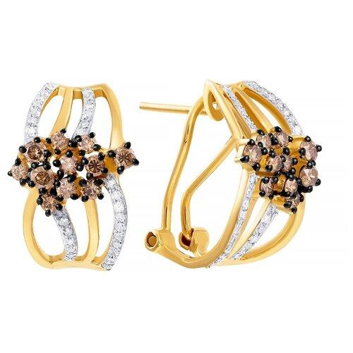 JV Золотые серьги с бриллиантами E46331B0S14YB002-SR-DN-YG