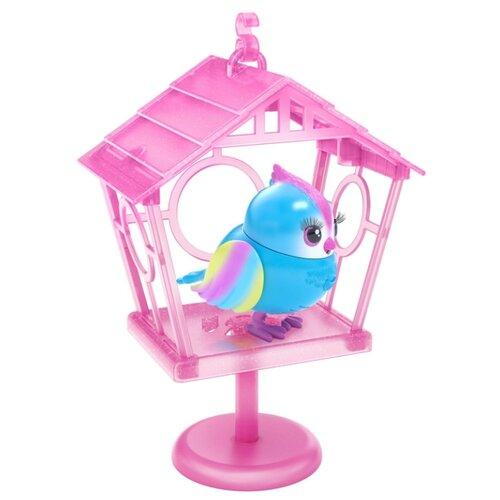 Купить Робот Moose Little Live Pets Птичка в скворечнике Твити-Радуга 26102 голубой/розовый, Роботы и трансформеры