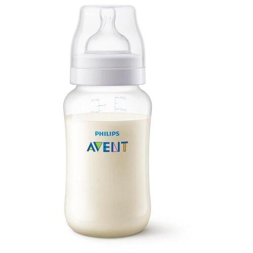 Купить Philips AVENT Бутылочка полипропиленовая Anti-colic SCF816/17, 330 мл с 3 мес., бесцветный, Бутылочки и ниблеры