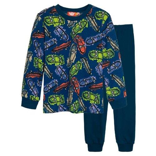 Пижама Let's Go размер 116, темно-бирюзовый
