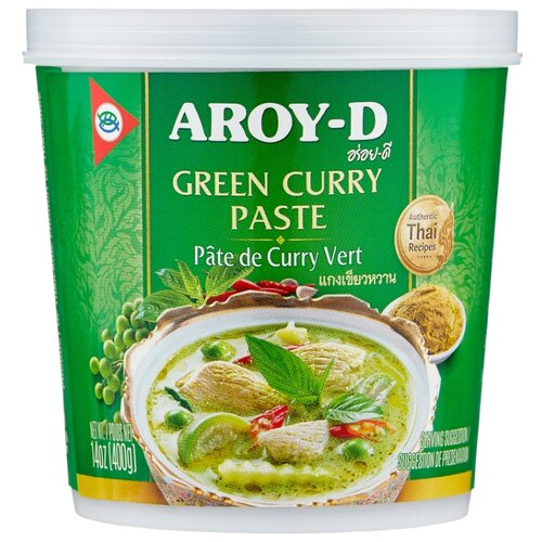 Aroy-D Паста Карри зеленая, 400 г готовый суп aroy d том ям 400 мл