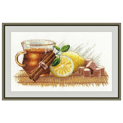 Овен Цветной Вышивка крестом Зимний чай 30 х 15 см (900)Наборы для вышивания<br>