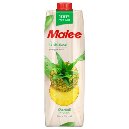 Сок Malee Ананас, без сахара, 1 л malee напиток кокосовое молоко 0 33 л