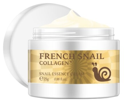 LAIKOU French Snail Collagen Крем для лица с муцином улитки и коллагеном, 25 г