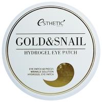 Esthetic House Гидрогелевые патчи для век с экстрактом слизи улитки и золота Gold & Snail Hydrogel Eye Patch