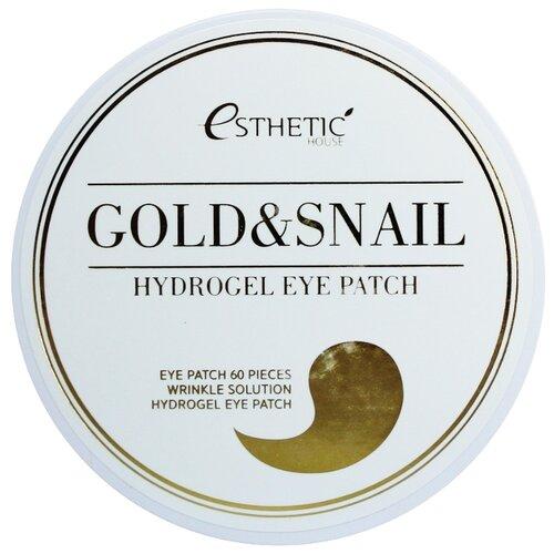 Купить Esthetic House Гидрогелевые патчи для век с экстрактом слизи улитки и золота Gold & Snail Hydrogel Eye Patch, 60 шт.