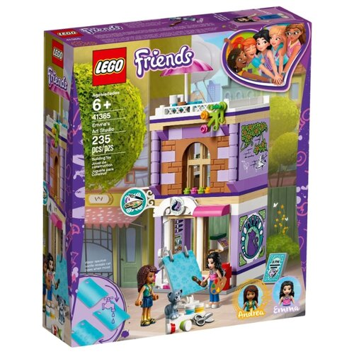 Конструктор LEGO Friends 41365 Художественная студия Эммы конструктор friends lego lego mp002xg00jt9