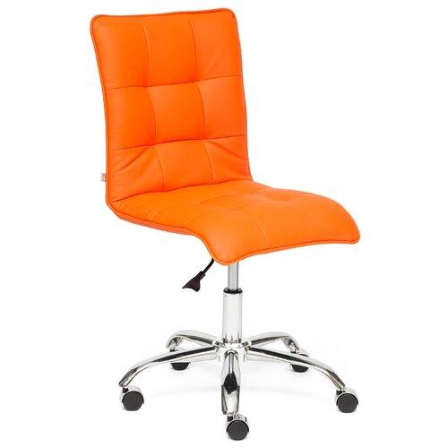 Компьютерное кресло TetChair Zero офисное, обивка: искусственная кожа, цвет: оранжевый компьютерное кресло tetchair барон обивка искусственная кожа цвет бежевый