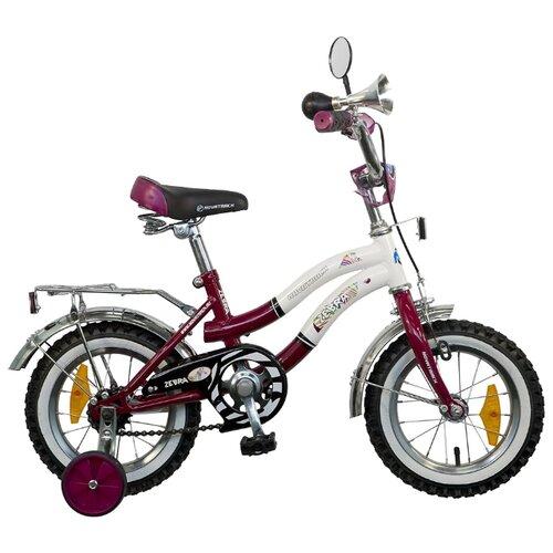 Детский велосипед Novatrack Zebra 12 (2015) фиолетовый (требует финальной сборки)