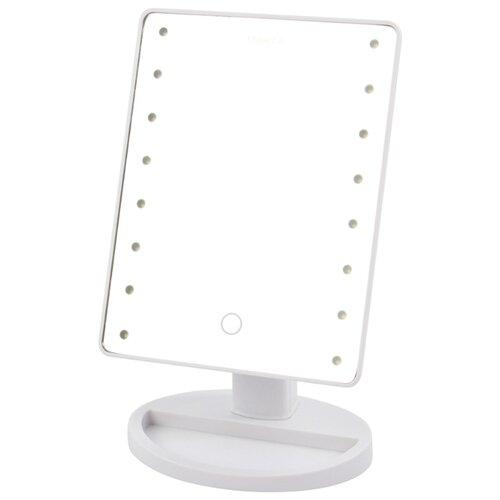 Зеркало косметическое настольное MARTA MT-2654 с подсветкой белый жемчуг зеркало косметическое настольное marta mt 2653 с подсветкой молочный жемчуг