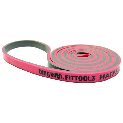 Эспандер лента Original FitTools петля (FT-DCL-13) 208 х 1.3 см розовый/серый