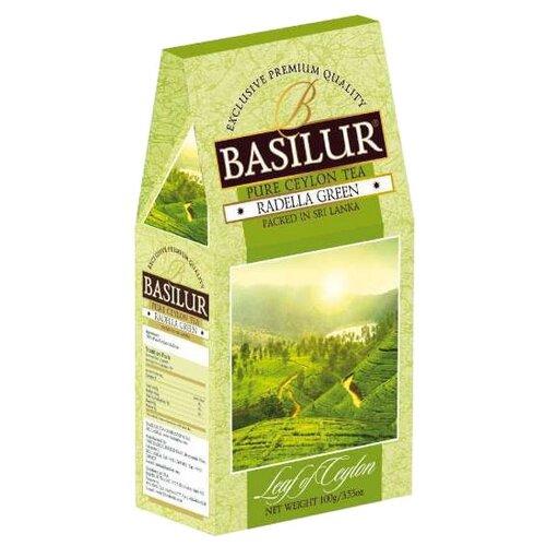 Чай зеленый Basilur Leaf of Ceylon Radella green, 100 г basilur orient delight черный листовой чай 100 г
