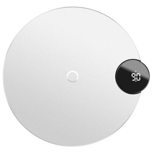 Купить Сетевая зарядка Baseus Digtal LED Display Wireless Charger белый