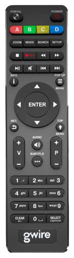 Пульт ДУ Gwire 950021 Dune для медиаплееров Dune HD TV-101W, HD TV-102W, HD Solo Lite