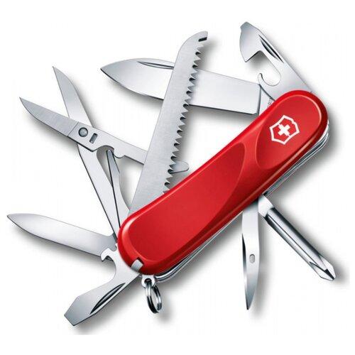 Нож многофункциональный VICTORINOX Evolution 18 (15 функций) красный швейцарский нож victorinox hercules 0 9043 111 мм 18 функций красный