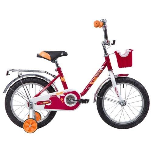 Детский велосипед Novatrack Maple 16 (2019) красный (требует финальной сборки) детский велосипед novatrack vector 18 2019 серебристый требует финальной сборки