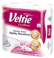 Полотенца бумажные Veltie Excellence белые трехслойные 2 шт.