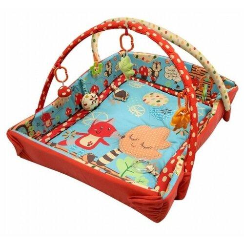 Купить Развивающий коврик Roxy kids Лисичка и ее друзья с бортиками (RPM-3261CE), Развивающие коврики