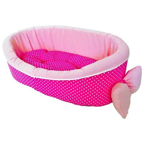 Лежак для собак и кошек LOORI Дуэт 55х40х18 см розовый