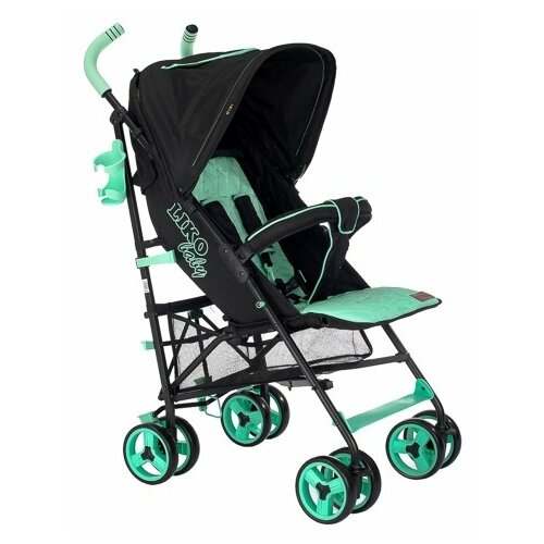 Купить Прогулочная коляска Liko Baby B-319 Easy Travel зеленый/черный, Коляски