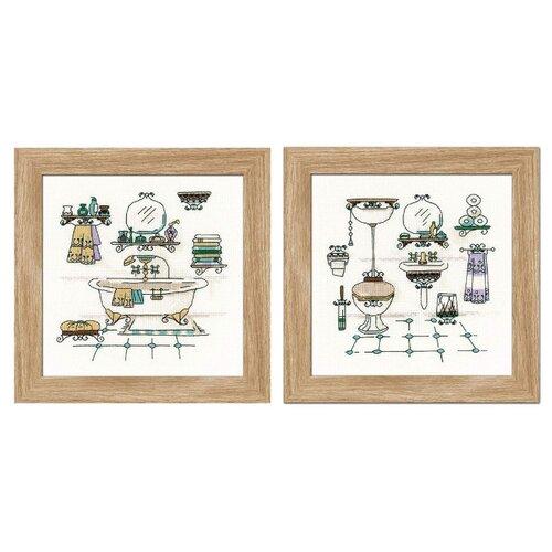 Купить Риолис Набор для вышивания крестом Интерьер ванной комнаты 15 х 15 (1737), Наборы для вышивания