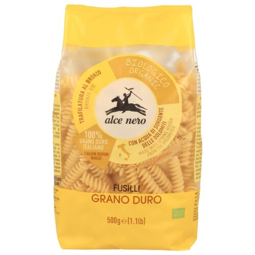 шоколад alce nero горький плиточный 100 г Alce Nero Макароны Fusilli, 500 г