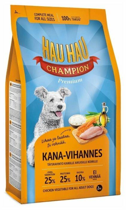 Корм для собак Hau-Hau Champion Chicken-Vegetables Adult
