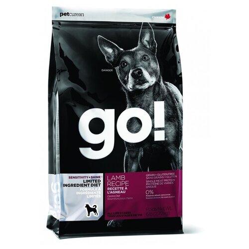 Корм для собак GO! (2.72 кг) Sensitivity + Shine Lamb Dog Recipe Limited Ingredient Diet, Grain Free, Potato FreeКорма для собак<br>