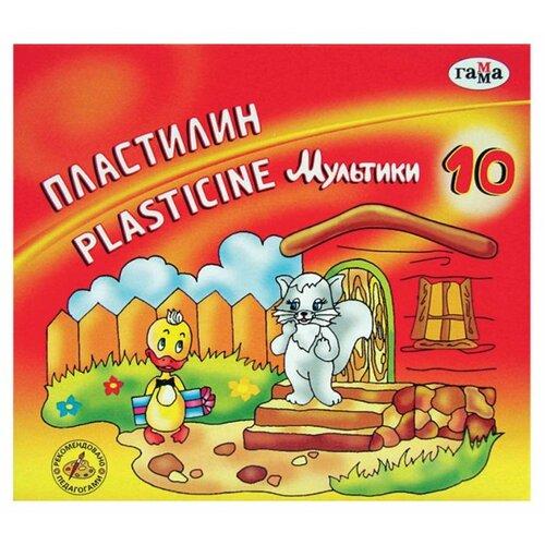 Фото - Пластилин ГАММА Мультики 10 цветов (280017) пластилин гамма мультики 12 цветов 280018 281018