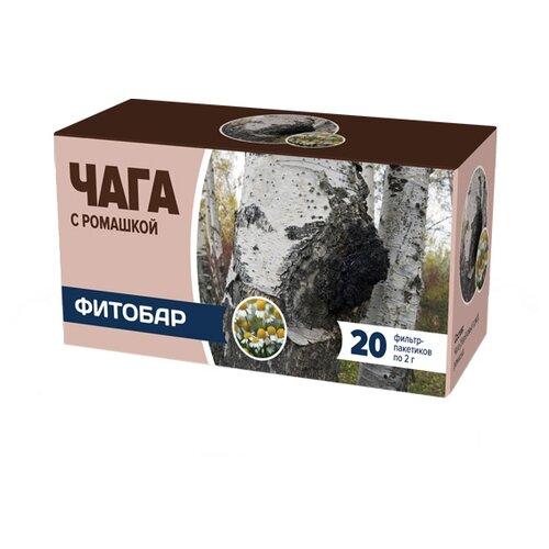 Чайный напиток травяной Соик Фитобар №35 Чага с ромашкой в пакетиках, 20 шт. фото