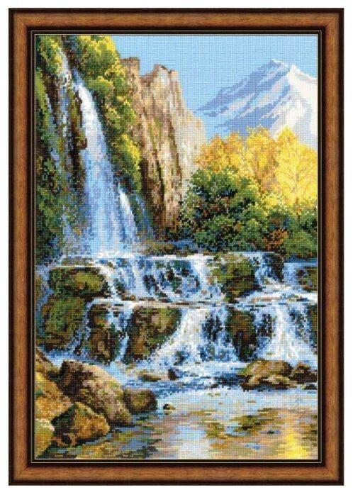 Риолис Набор для вышивания крестом Пейзаж с водопадом 60 х 40 см (1194) — купить по выгодной цене на Яндекс.Маркете