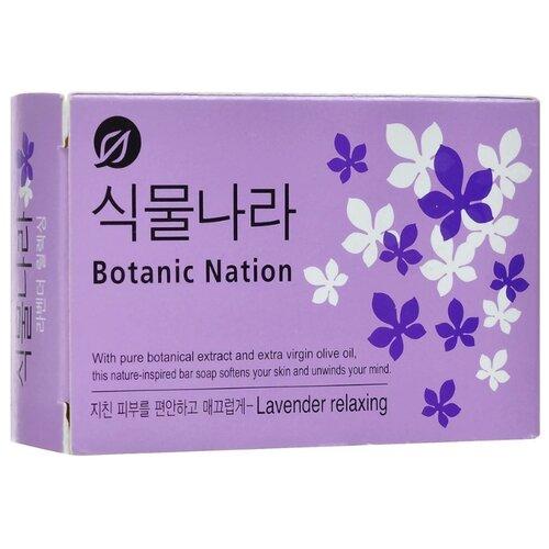Мыло кусковое CJ Lion Botanical Nation Экстракт лаванды, 100 г