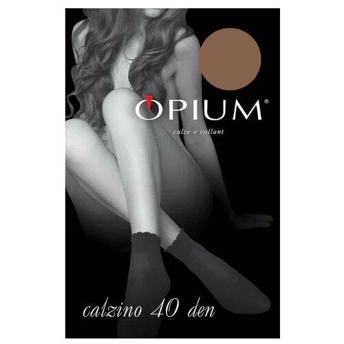 Капроновые носки Opium Calzino 40 den, размер one size, visone