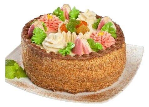 Торт бисквитно-кремовый (бисквитный торт), 1500 г., Добрынинский