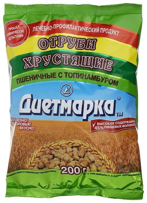 Отруби ДиетМарка пшеничные с топинамбуром, 200 г