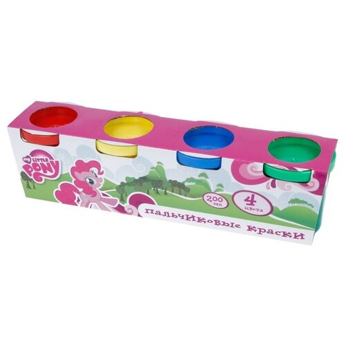 Купить MultiArt Пальчиковые краски My Little Pony 4 цвета х 50 мл (450FP-MLP), Краски
