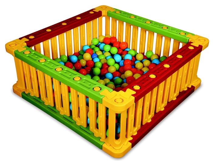 Пластиковый квадратный манеж для шаров KING KIDS KK_SB6010