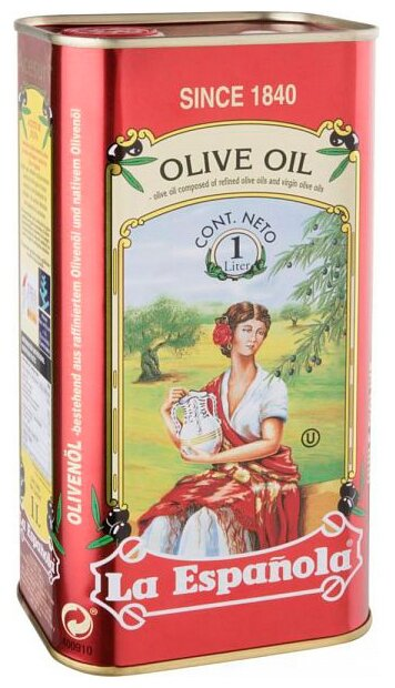 La Espanola Масло оливковое, жестяная банка
