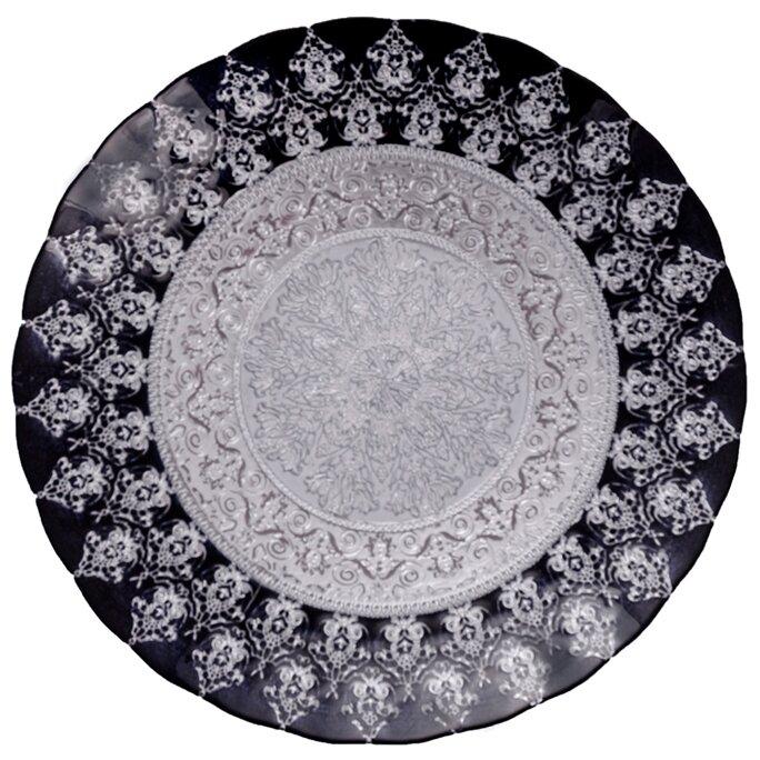 Блюдо Аксам-акджам Блюдо большое серебро хюррем, 17164/4, диаметр 30 см, подарочная упаковка