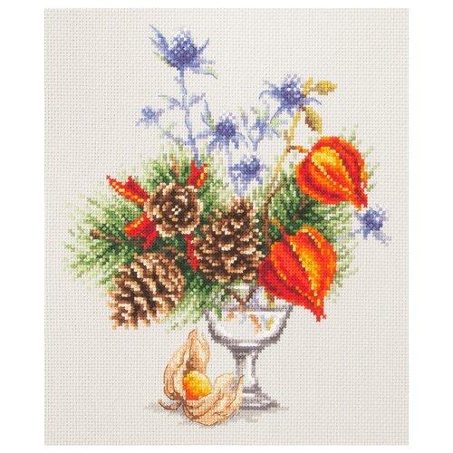 Купить Чудесная Игла Набор для вышивания Зимний букетик 20 x 23 см (100-001), Наборы для вышивания