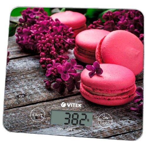 Кухонные весы VITEK VT-8003 коричневый/розовый весы кухонные vitek vt 8021 st серебристый
