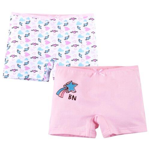 Трусики Bossa Nova размер 32, розовый/розовые сердечкиБелье и купальники<br>