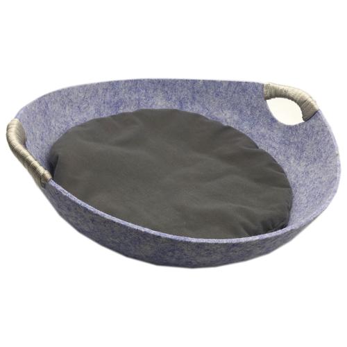 Лежак для кошек Fauna International Matis M 45х45х25 см синийЛежаки, домики, спальные места<br>