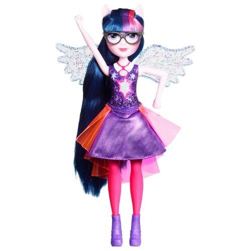 Кукла My Little Pony Equestria Girls Твайлайт Спаркл интерактивная, 28 см, E2880 little you мягкая кукла джейн