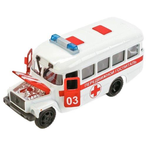 Микроавтобус ТЕХНОПАРК КАвЗ Передвижной госпиталь (CT10-069-2) 1:43 14 см белыйМашинки и техника<br>